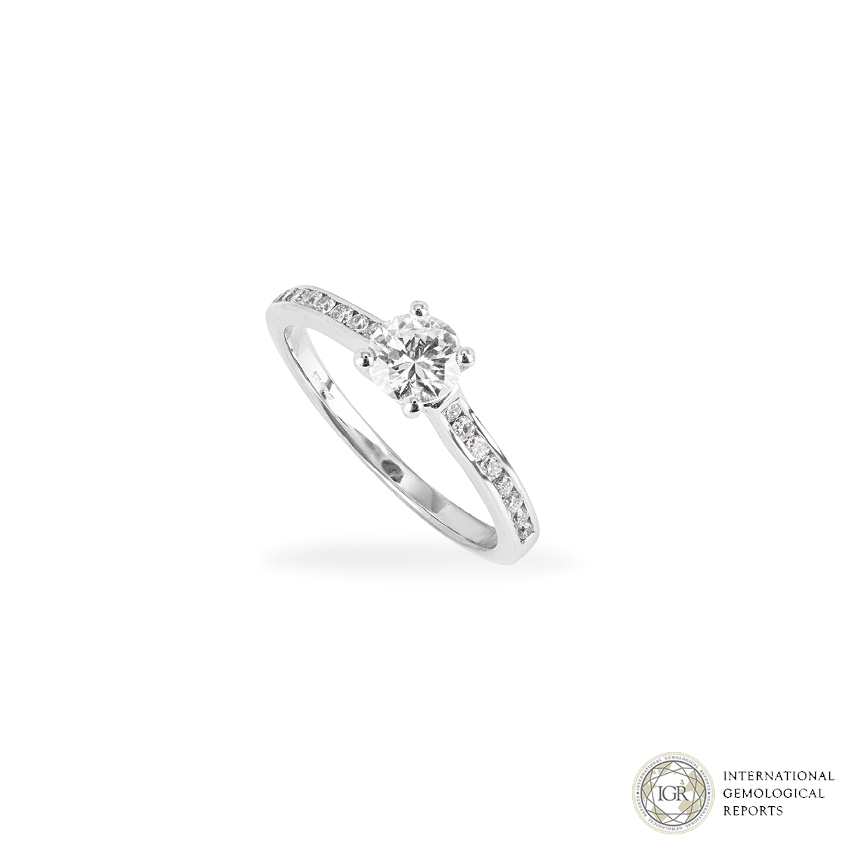 18k White Gold Diamond Ring 0.52ct D/VS1